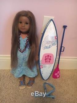 American Girl GOY 2011 Kanani + Surf Board & Paddle