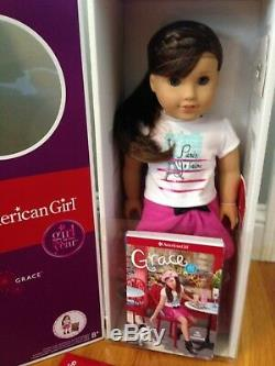 American Girl GRACE THOMAS DOLL OF THE YEAR 18 NEW Bracelet Book NIB FAST SHIP