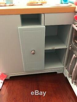 American Girl Gourmet Kitchen sink stove fridge 18 doll Kitchen Items Apron