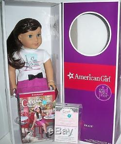 American Girl Grace Thomas Doll Of The Year 2015-18 Pierced Ears