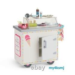 American Girl ICE CREAM CART plus PLAY PIECES accessories ICECREAM CART for DOLL