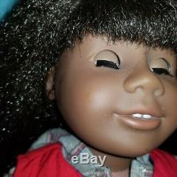 American Girl JLY18 doll black hair bangs dark skin African-American Addy #18
