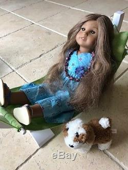 American Girl Kanani and Accessories Dog, Hammock, Chair, Food