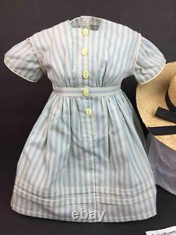 American Girl Kirsten Summer DressStraw HatFishing OutfitPleasant Company tag