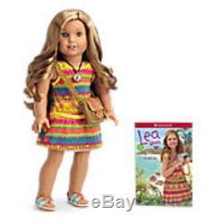 American Girl Lea Clark Pierced Ears -doll Of The Year 2016 -18- New In Box