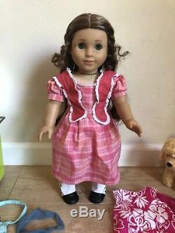 American Girl Lot Retired Marie Grace Doll, Salon, Clothes, Dog, Accessories Ect