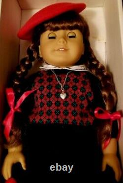 American Girl Molly Doll with Book and Christmas Dress