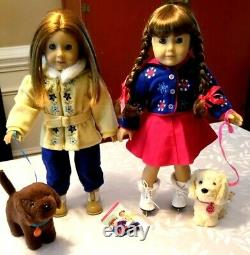 American Girl Molly & Pleasant Company Emily Winter Fun Honey Chocolate Chip Lot