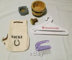 American Girl Nicki, Dog Sprocket, 3 Outfits, Extras Girl of the Year 2007