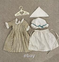 American Girl/Pleasant Company1994 Felicity Work Gown Dress Mob Cap Apron Scarf