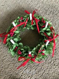 American Girl Pleasant Company KIRSTEN'S ST LUCIA Holiday OUTFIT WREATH
