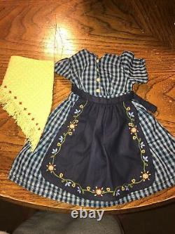 American Girl Pleasant Company Kirsten On The Trail Dress Complete EUC RETIRED