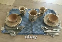 American Girl Pleasant Company Kirsten Rowe Pottery Set Complete EUC RETIRED