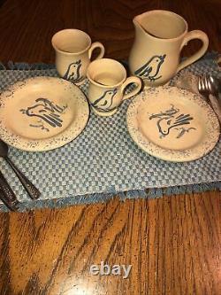 American Girl Pleasant Company Kirsten Rowe Pottery Set Near Complete EUC