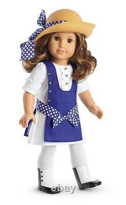 American Girl Rebecca's Blue Play Dressbootstightshatnew In Box