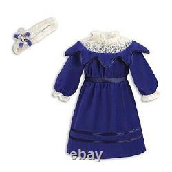 American Girl SAMANTHA'S BLUE VELVET Party DRESS for Samantha Doll RETIRED