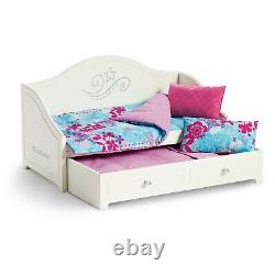 American Girl TRUNDLE BED and BEDDING Set for Dolls Truly Me New