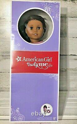 American Girl Truly Me #46 18 Inch Doll New NIB Brown Eyes, Hair Lilac Dress