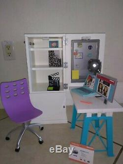 American Girl doll Z Yang's storage desk closet for bedroom 18 doll