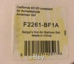 American Girl of the Year 2013 Saige Sage Hot Air Balloon Set Retired NEW