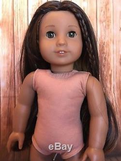 American girl 18custom Kanani girl doll cleaned green eyes brown hair #66