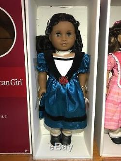 BUNDLE NRFB Marie-Grace and Cécile American Girl Dolls + books + nightgowns