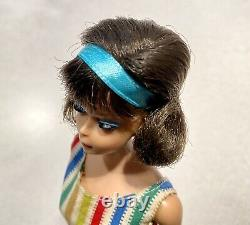 Barbie VINTAGE Brunette SIDEPART AMERICAN GIRL Bend Leg BARBIE Doll