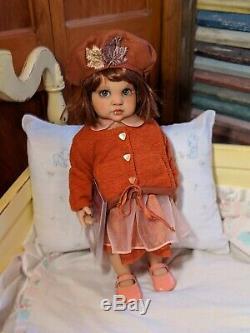 CUSTOM, OOAK, Hildegard Gunzel Gotz 16 Vinyl Toddler Doll, New EyesADORABLE