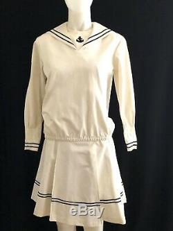 Child Size SAMANTHA American Girl Pleasant Company 2 PIECE Sailor Dress SZ 14