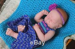 Crying American Reborn Baby Girl Doll Full Vinyl Newborn Baby Preemie Lifelike