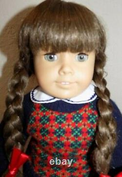 EARLY White Body Pleasant Company Molly American Girl Doll in Box w Meet Outfit