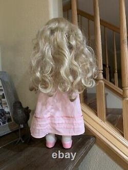 EUC Original American Girl 18 Caroline Doll Complete Meet Outfit Blonde