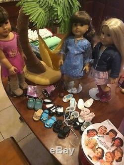 Entire Lot American Girl Collection Molly Samantha Julie Clothes Shoes Bed Swing