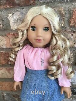 Genevieve Custom American Girl Doll OOAK Curly Blonde Hair Green Eyes Julie