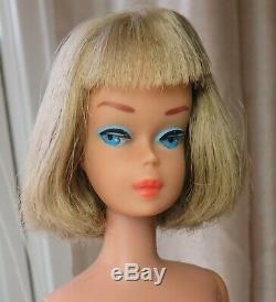 HTF Spectacular Vintage Long Hair Silver Blonde American Girl Barbie Doll