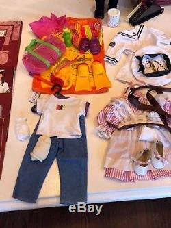 HUGE LOT of Pleasant Company Samantha Doll 17 Outfits Steamer Trunk Accessories
