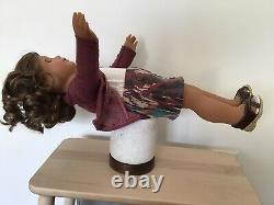 Jane Custom American Girl Doll OOAK Brown Curly Hair Amber Eyes Medium Skin Tone