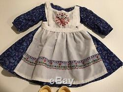 Kirsten Baking Outfit Dress Clogs Apron Authentic American Girl Doll Clothes