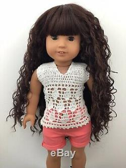 Kori Custom OOAK American Girl Doll Hazel Eyes Reddish Brown Curly Hair Kanani