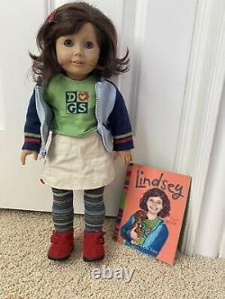 LINDSEY BERGMAN 2001 AMERICAN GIRL DOLL withMeet OutfitScooterBookLaptop