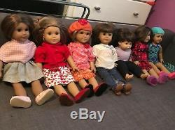Large Lot of American Girl dolls (used) pls see pictures
