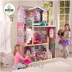 Large wood dollhouse for American Girl and other 18dolls with furniture