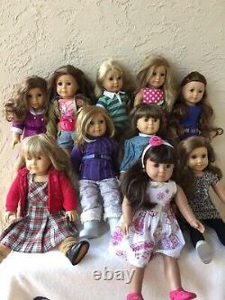 Lot Of 10 American Girl Dolls Some Girl Of The Year Majority Retired