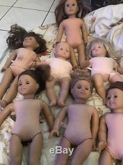 Lot Of 6 American Girl Dolls Pre-owned