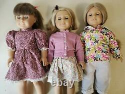 Lot of 3 American Girl Dolls Pleasant Company / Molly, Elizabeth and Kit