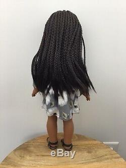 Malia Custom OOAK African American Girl Doll Melody Braided Black Hair Grey Eyes