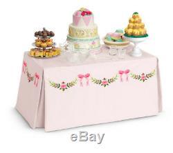 NEW American Girl Doll Caroline Banquet Table & Treats Food Furniture NIB NRFB