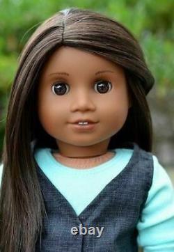 NEW American Girl TM #47 Doll, Sonali look-a-like, dark skin, brown hair & eyes
