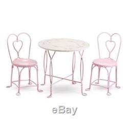 NEW IN BOX NRFB American Girl Sweet Treats Pink Table & Chairs Ice Cream Parlor