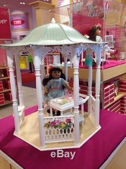 NEW NRFB American Girl Doll Samantha Garden Gazebo Set New in box
